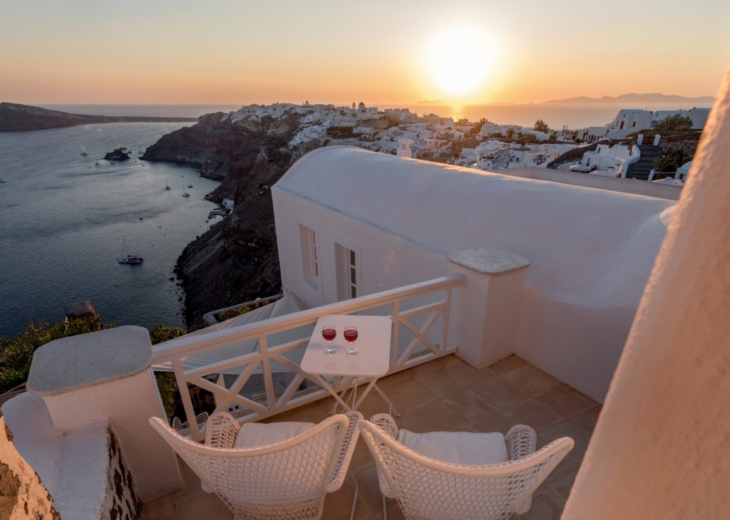 White House Villa in Oia of Santorini island